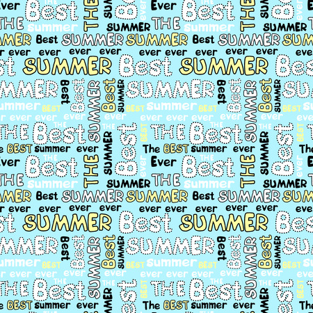 Decorative seamless pattern with crossed words