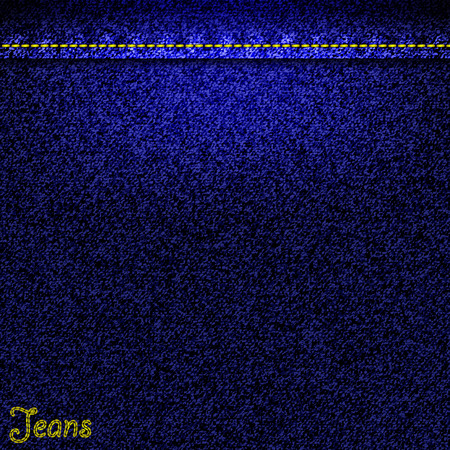 jeans fabric: Texture of blue jeans fabric as background. Vector EPS10