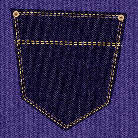 back pocket: Back pocket of purple jeans closeup as background. Vector EPS10 Illustration