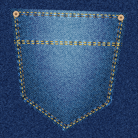back pocket: Back pocket of blue jeans close-up as background. Modern design for your project