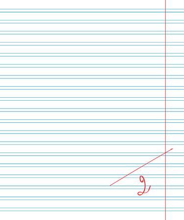deuce: Vector paper sheet in line with the red fields