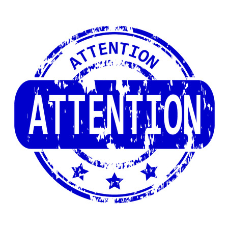 Attention rubber stamp. Stock Photo