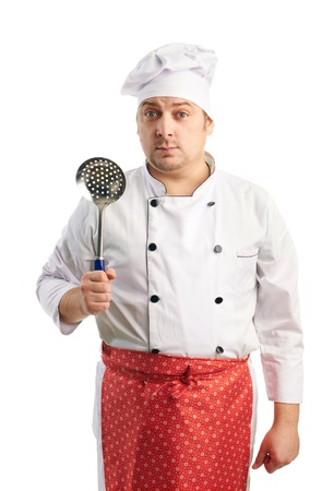 sieve: funny chef with sieve
