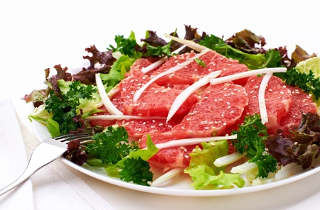 salad with grapefruit and cabbage