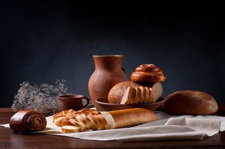 various bread on table, still life