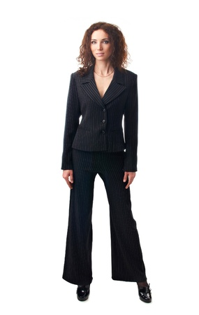 Attractive businesswoman standing  at full height