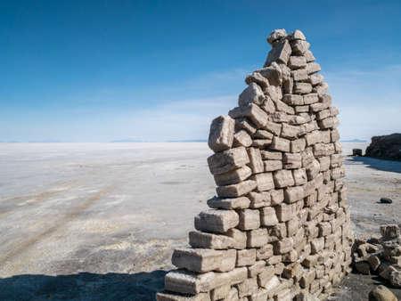 borax: Salt Block in the near of Isla del Pescado, Bolivia