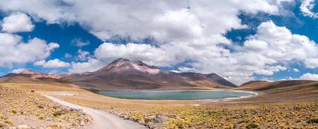san: Landscape. Miniques Lagoon. Atacama, North of Chile