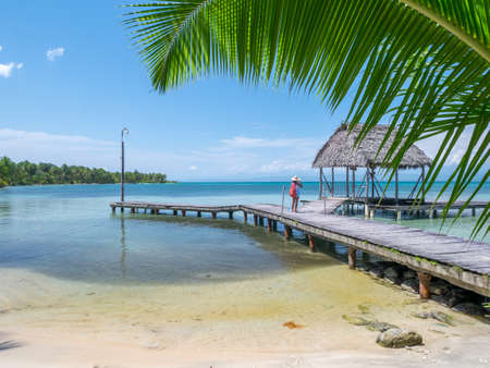 Beach in bocas del toro, Panama, Central America Stock Photo