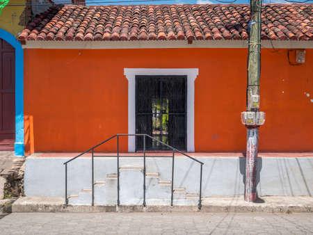 granada: Entrance Door and Facade in Granada, Nicaragua
