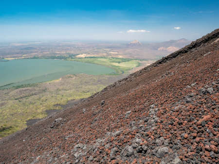 volcan: Volcan Momotobo in the near of Leon, Nicaragua