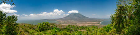 Island Ometepe in Nicaragua with the vulkan concepcion Stock Photo