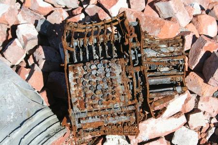 Burnt type writer Reklamní fotografie