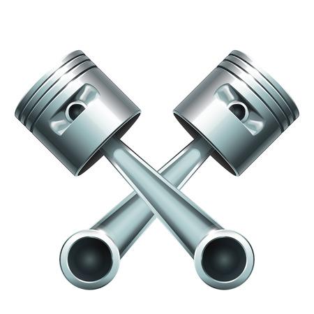 illustration de pistons métalliques pour moteur isolé Vecteurs