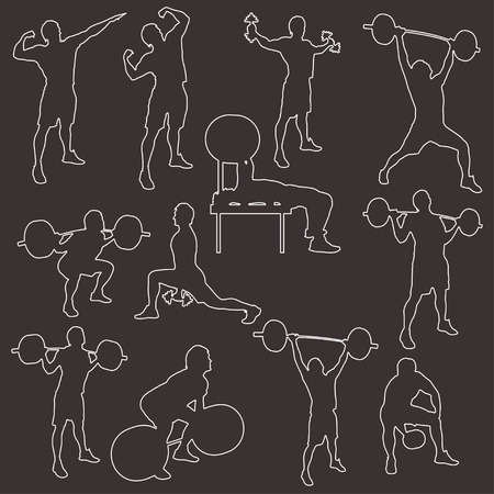 stroke silhouettes  of athletes