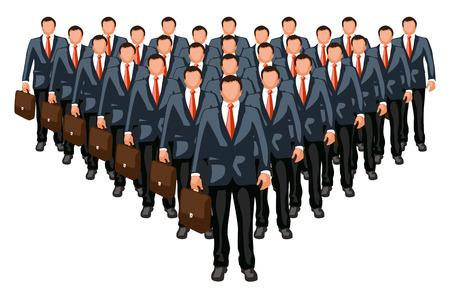 分離の前のリーダーとのビジネス チームの図
