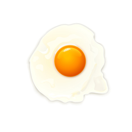�back ground�: illustration of cooked egg on white  back ground