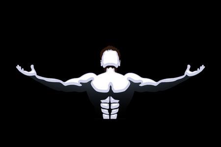 backwards: licht vallen op atleet in de duisternis