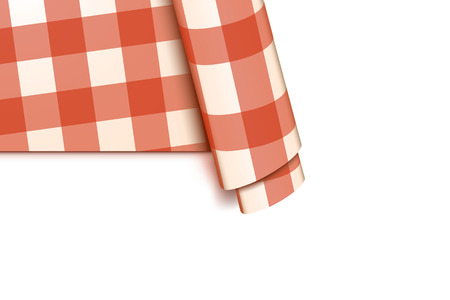 bleached: illustration of red cell tablecloth on white background