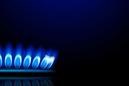 illustration of close up view of burner ring from side on dark background Illustration