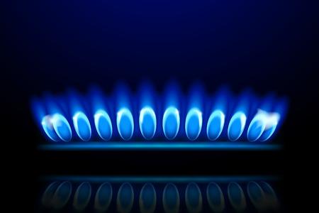 illustration of burner ring close up on dark background