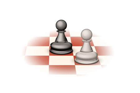 tactical: illustration of two pawns standing oposite each other Illustration