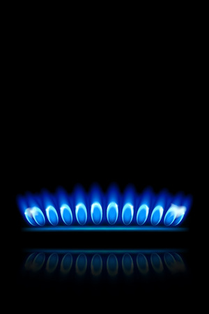 illustration of burner ring view from side on black background