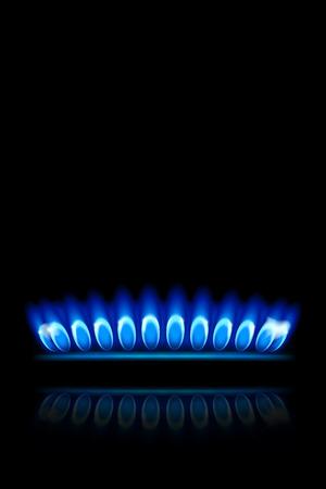 butane: illustration of burner ring view from side on black background