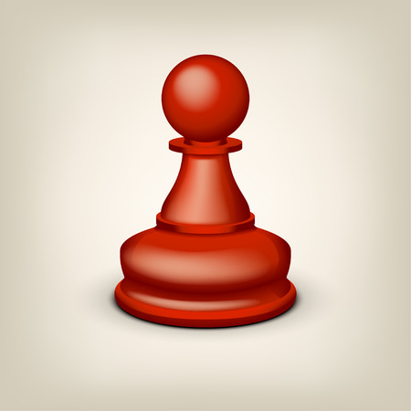 illustration of red pawn on grey background Illustration
