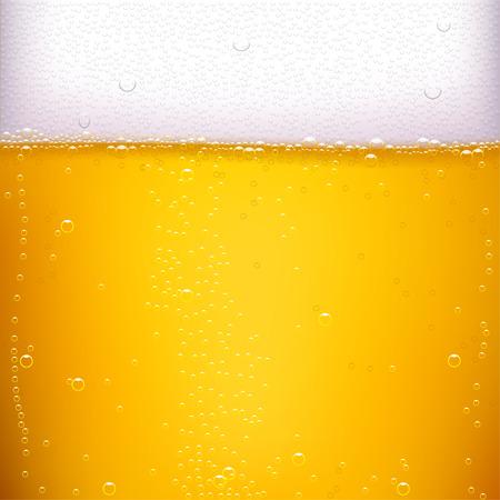 泡の多い黄色いベクトル ビール背景のイラスト