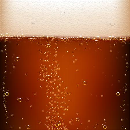 illustratie van donker bier achtergrond met veel bubbels Stock Illustratie
