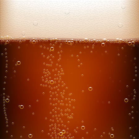 illustration of dark beer background with a lot of bubbles