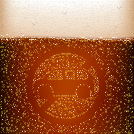 illustration of dark beer background with silhouette of car