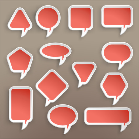 different shapes: illustration of paper lists set with different shapes and color