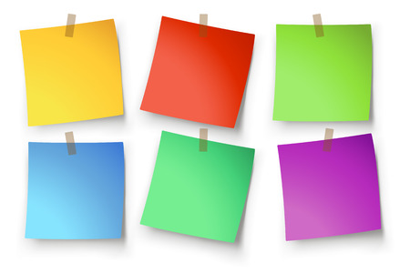 illustration of paper lists set with different shapes and color Stock Vector - 43463755