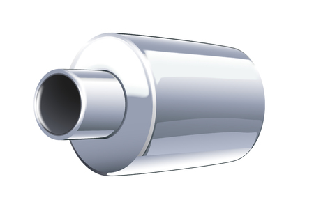 tailpipe: illustration of car pipe on white background with shadow Illustration