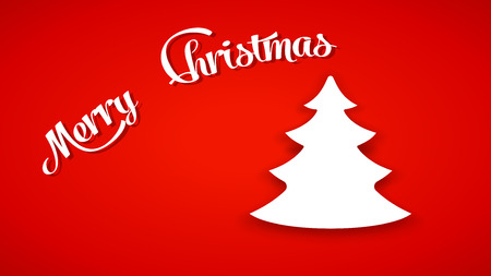 christmas tree illustration: illustration of christmas tree on red background