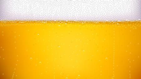 たっぷり泡のラガービール背景のイラスト