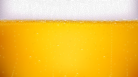 fresh brewed: illustration of lager beer background with a lot of bubbles