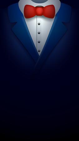 illustration of rich tuxedo in the darkness Illustration