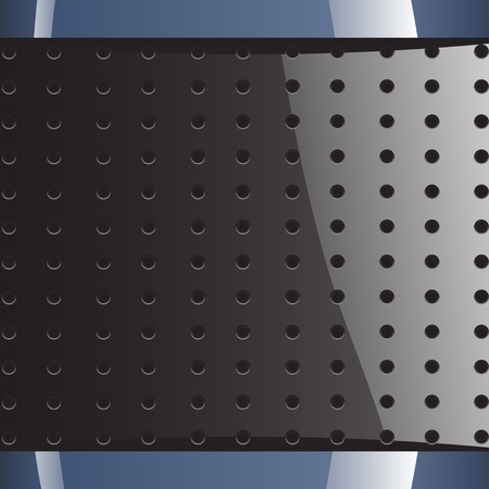 industrial hole: illustration of blue grey background with round holes Illustration