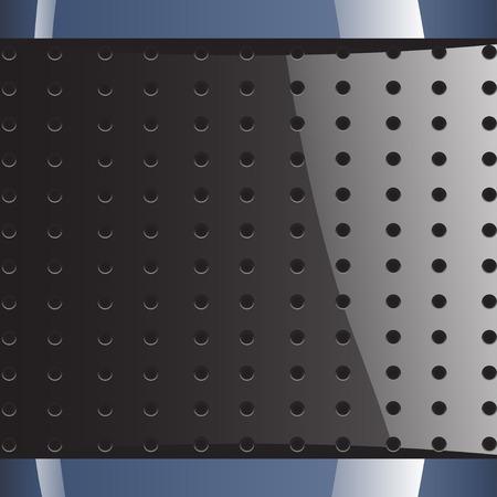 holes: illustration of blue grey background with round holes Illustration