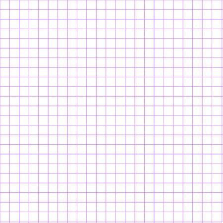 grid paper: illustration of violet grid on white background. school paper Illustration