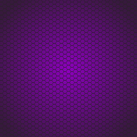 colored background: illustration of hexagon violet colored cells background. cells are violet to dark wiolet color