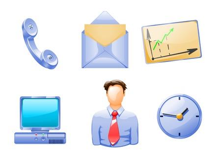 illustraion: cartoon illustraion of different business objects and people Illustration
