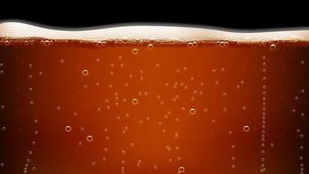 illustratie van donker bier achtergrond met woord drank