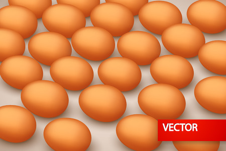 od: illustration of a lot od eggs lying on the brown background