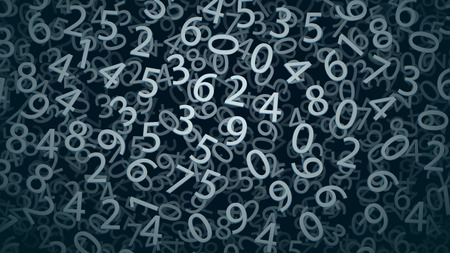 jumbled: illustration of background with numbers in blue color tone