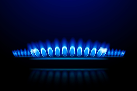 illustration of burner ring close up on dark background