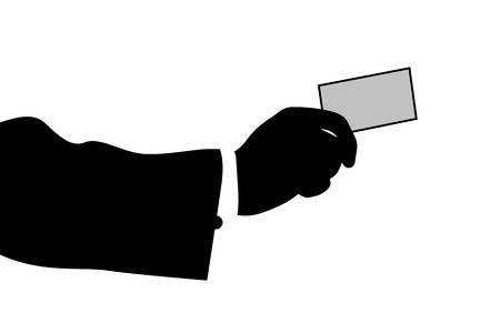 holding business card: illustration of business had holding business card Illustration